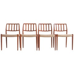 Set of Four Model 83 Niels Otto Møller Teak Chairs