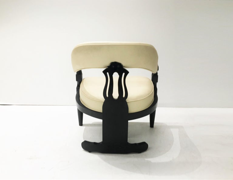 Set Of Four Modern Asian Inspired, Asian Inspired Dining Chairs