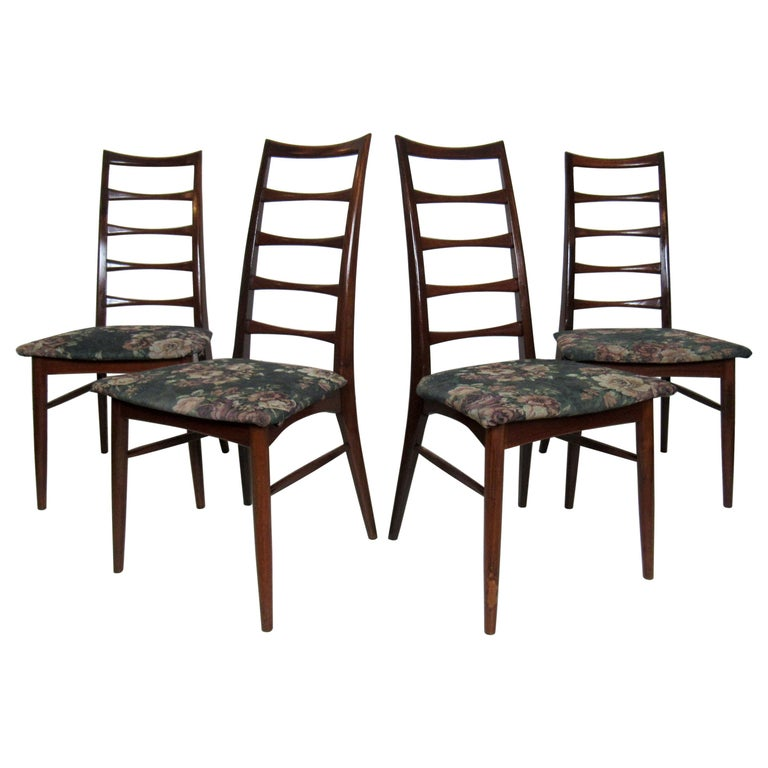 Set of Four Modern Dining Chairs For Sale