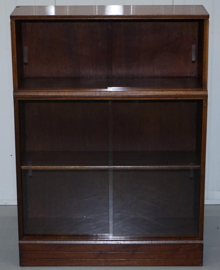 Set Of Four Modular Stacking Mahogany Library Bookcases