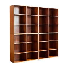 Set of Four Mogens Koch Bookcases in Solid Mahogany for Rud. Rasmussen, Denmark