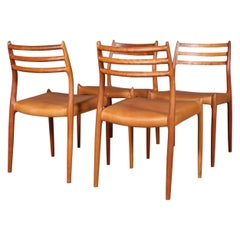Set of Four N. O. Møller Dining Chairs