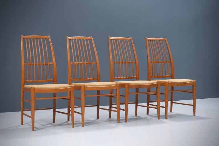 Swedish Set of four 'Napoli' Dining Room Chairs  by David Rosén for NK, Sweden, 1953 For Sale