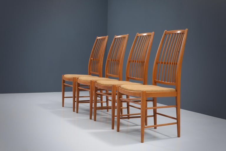 Set of four 'Napoli' Dining Room Chairs  by David Rosén for NK, Sweden, 1953 In Excellent Condition For Sale In Amsterdam, NL