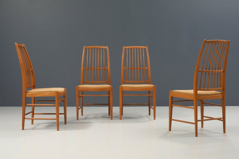 Mid-20th Century Set of four 'Napoli' Dining Room Chairs  by David Rosén for NK, Sweden, 1953 For Sale