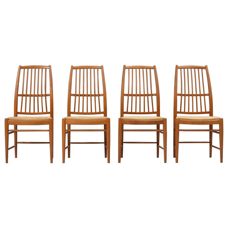 Set of four 'Napoli' Dining Room Chairs  by David Rosén for NK, Sweden, 1953 For Sale