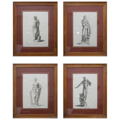 Set of Four Neoclassical Engraving