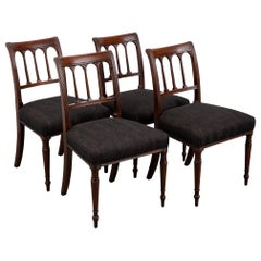 Set of Four Neoclassical Style 19th Century Dining Chairs