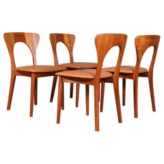 Set of Four Niels Koefoed Dining Chairs