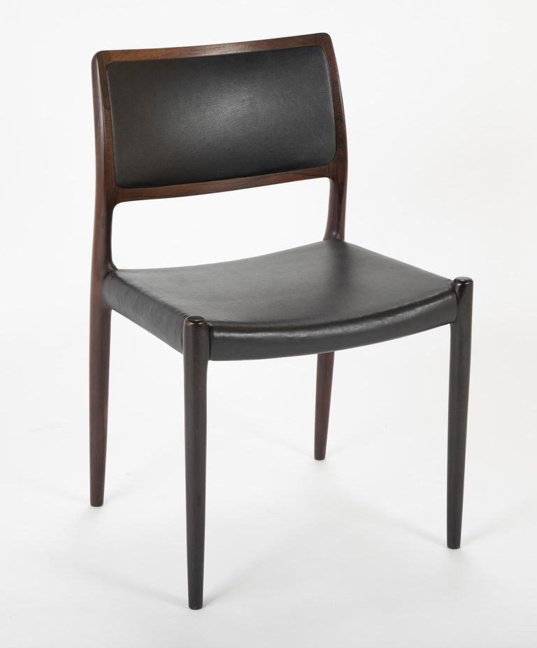 Set of Four Niels Moller Dining Chairs In Good Condition For Sale In Stamford, CT
