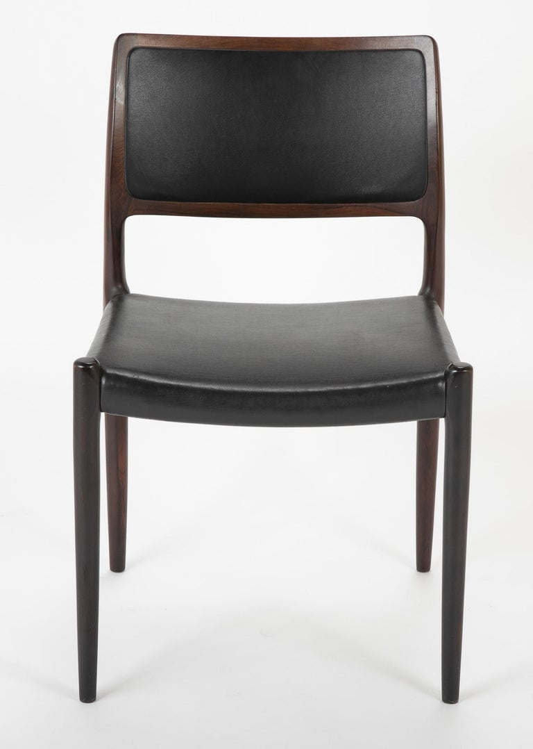 Mid-20th Century Set of Four Niels Moller Dining Chairs For Sale