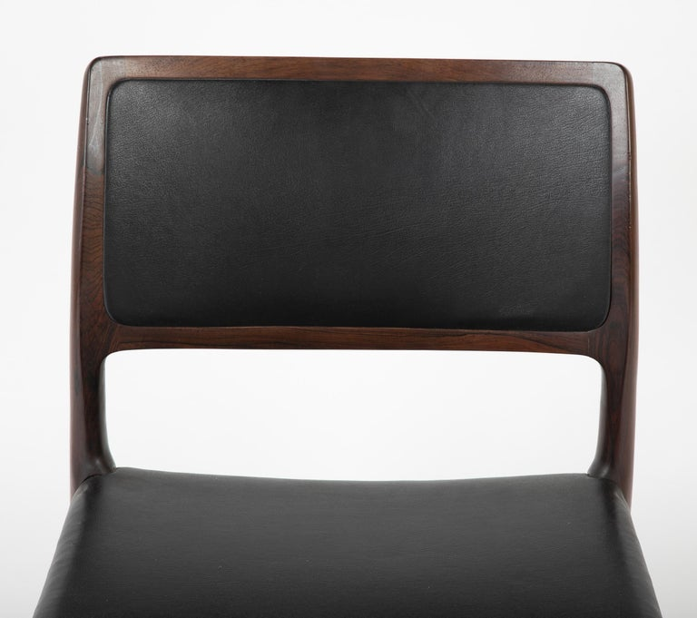 Rosewood Set of Four Niels Moller Dining Chairs For Sale