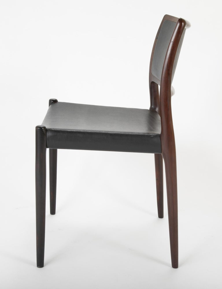 Set of Four Niels Moller Dining Chairs For Sale 2