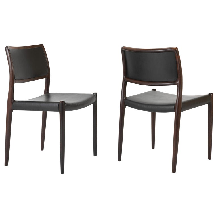 Set of Four Niels Moller Dining Chairs For Sale
