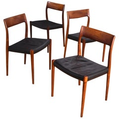 Set of Four Niels Moller Model 77 Brazilian Rosewood Dining Chairs