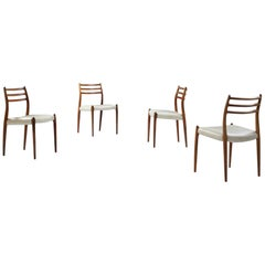 Set of Four Niels Otto Møller Dining Chairs No 78 in Rosewood, Denmark, 1960s
