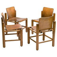 Set of Four Norwegian Plywood Chairs