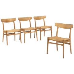 Set of Four Oak CH23 Dining Chairs by Hans Wegner for Carl Hansen and Son