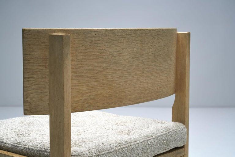 Set of Four Oak Chairs by Ilse Rix for Uldum Møbelfabrik, Denmark, 1961 For Sale 7