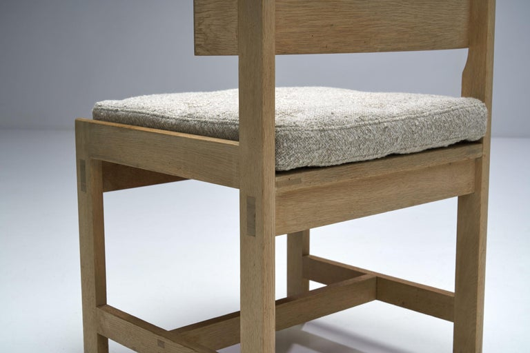 Set of Four Oak Chairs by Ilse Rix for Uldum Møbelfabrik, Denmark, 1961 For Sale 13