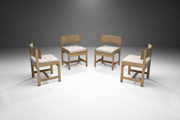 Danish Set of Four Oak Chairs by Ilse Rix for Uldum Møbelfabrik, Denmark, 1961 For Sale