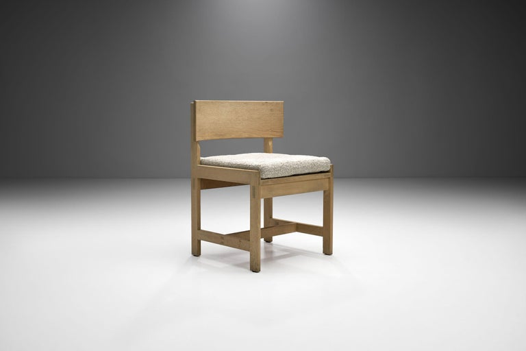 Set of Four Oak Chairs by Ilse Rix for Uldum Møbelfabrik, Denmark, 1961 In Good Condition For Sale In Utrecht, NL