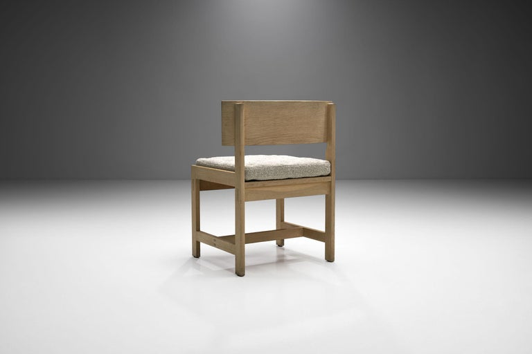 20th Century Set of Four Oak Chairs by Ilse Rix for Uldum Møbelfabrik, Denmark, 1961 For Sale
