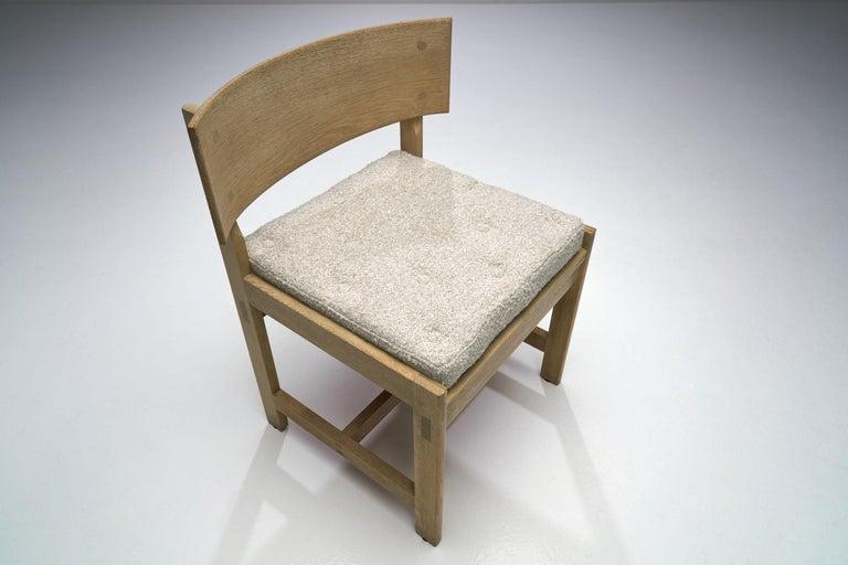 Set of Four Oak Chairs by Ilse Rix for Uldum Møbelfabrik, Denmark, 1961 For Sale 3