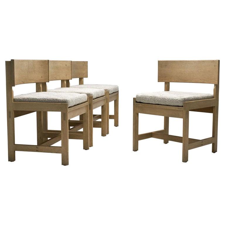 Set of Four Oak Chairs by Ilse Rix for Uldum Møbelfabrik, Denmark, 1961 For Sale