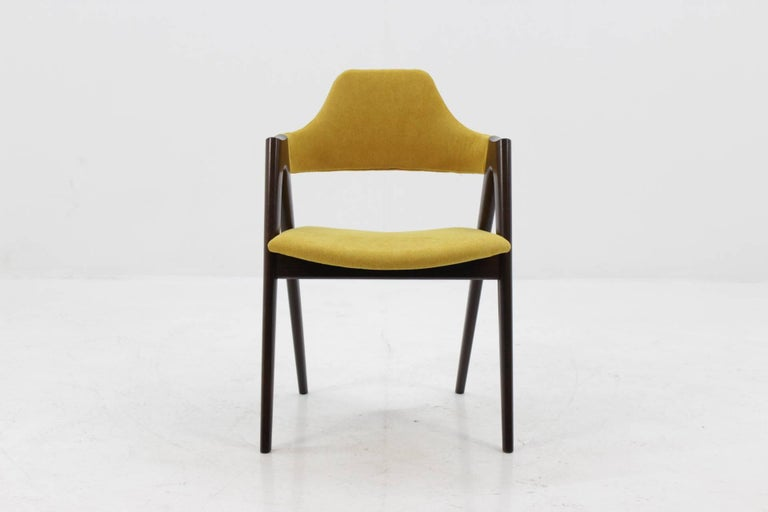Set of Four Oak Compass Chair by Kai Kristiansen for SVA Møbler In Good Condition In Praha, CZ