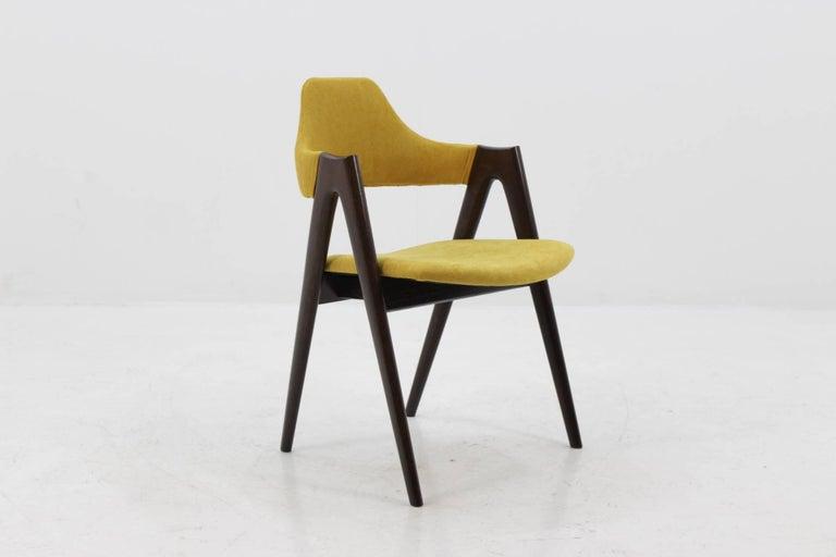 Mid-20th Century Set of Four Oak Compass Chair by Kai Kristiansen for SVA Møbler