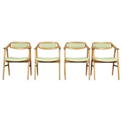 Set of Four Oak Dining Chairs by Albin Johansson & Söner, Hyssna, Sweden, 1960s