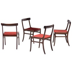 Set of Four Ole Wanscher Rungstedlund Chairs