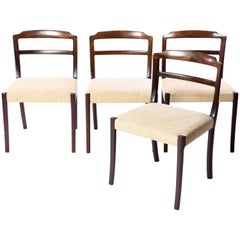 Set of Four Ole Wanscher Style Mahogany Side Chairs