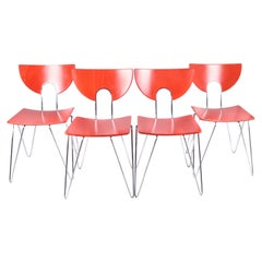 Set of Four Mikado 1800 Side Chairs by Walter Leeman for Kusch+Co.