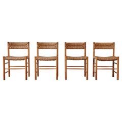 Set of Four Original Robert Sentou Dordogne Chairs, France, 1960s