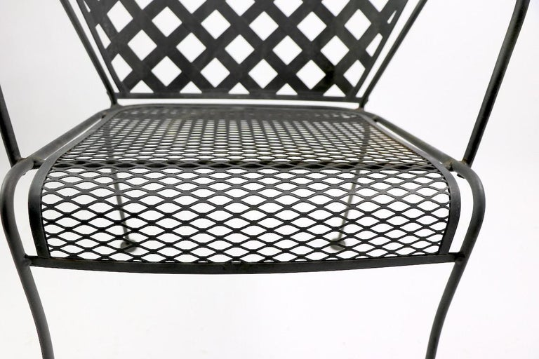 Set of Four Outdoor Chairs Attributed to Woodard 3
