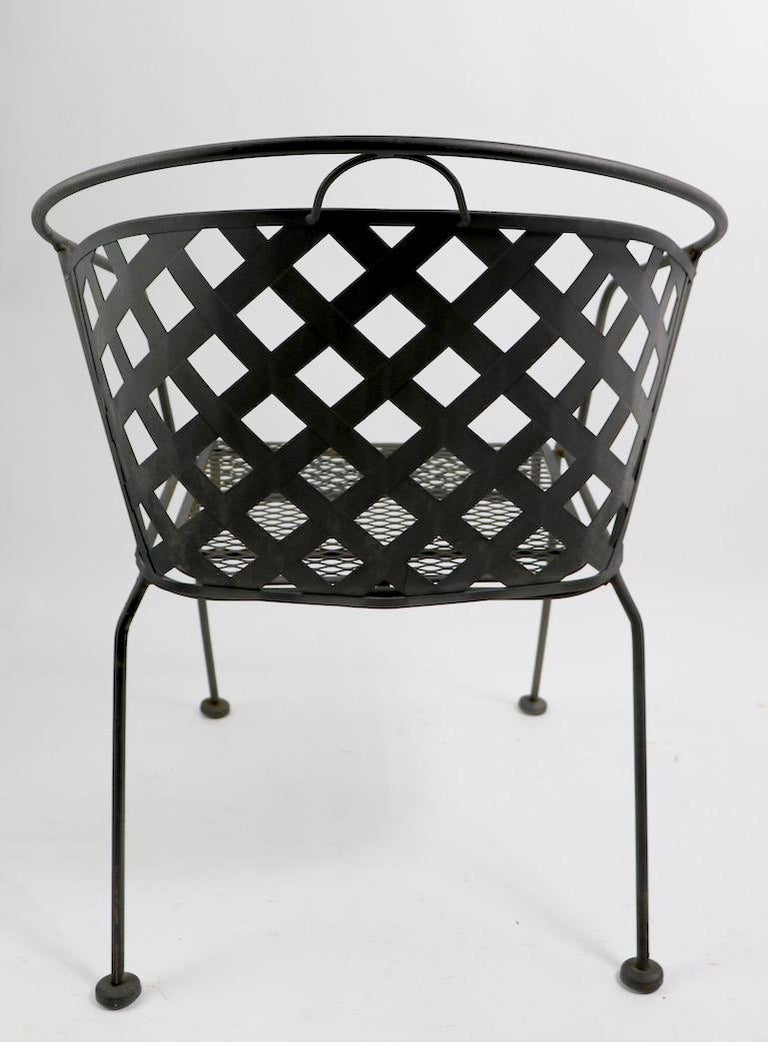 Set of Four Outdoor Chairs Attributed to Woodard For Sale 6