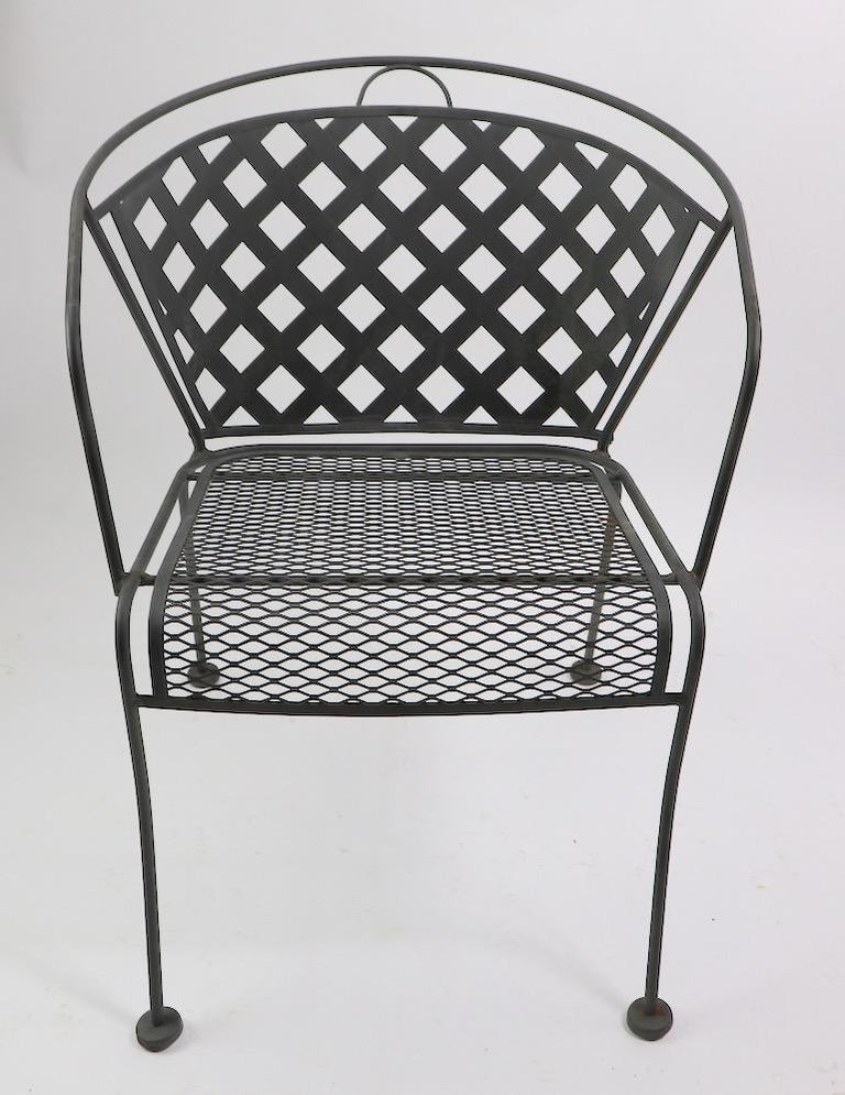 American Set of Four Outdoor Chairs Attributed to Woodard For Sale