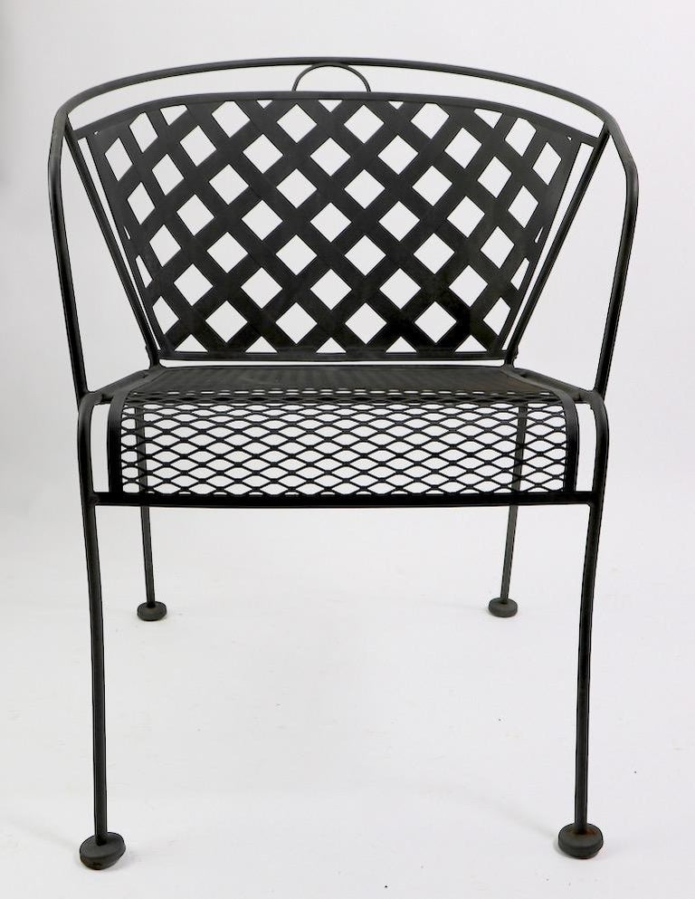 Set of Four Outdoor Chairs Attributed to Woodard In Good Condition In New York, NY