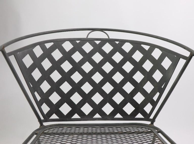 Set of Four Outdoor Chairs Attributed to Woodard 2