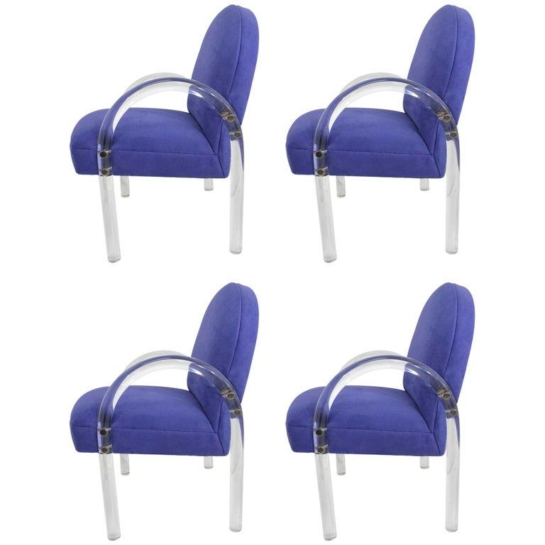 Four Pace Collection Waterfall Dining Chairs For Sale