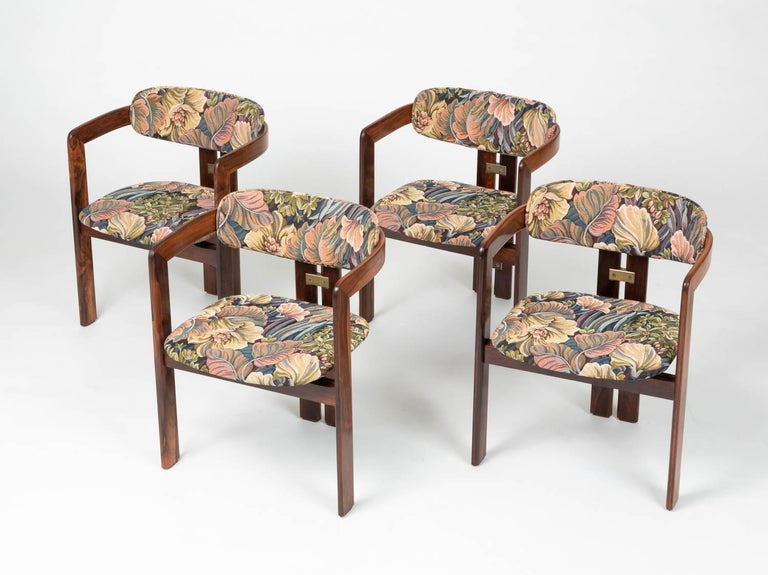 Mid-Century Modern Set of Four Augusto Savini for Pozzi 'Pamplona' Chairs For Sale