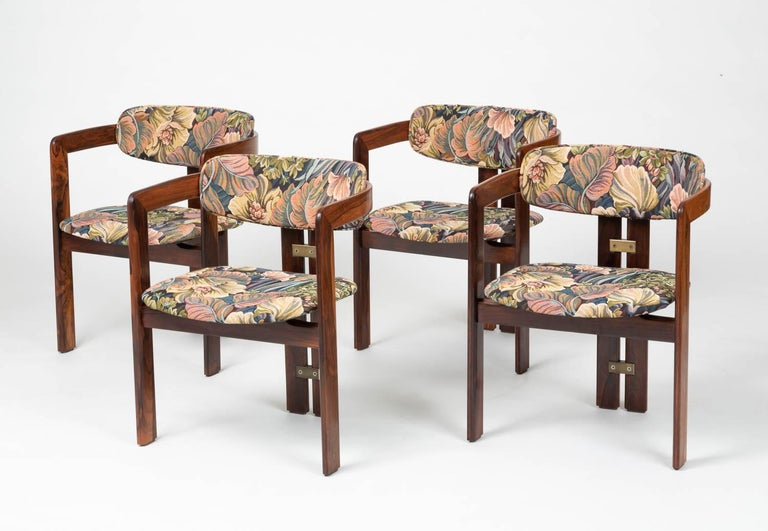 Italian Set of Four Augusto Savini for Pozzi 'Pamplona' Chairs For Sale