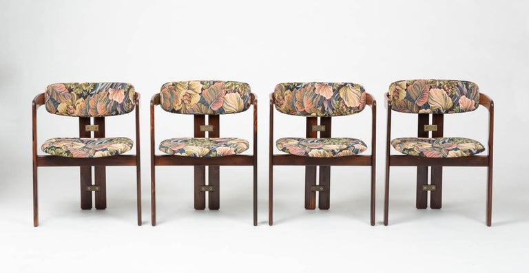 Set of Four Augusto Savini for Pozzi 'Pamplona' Chairs In Excellent Condition For Sale In Los Angeles, CA