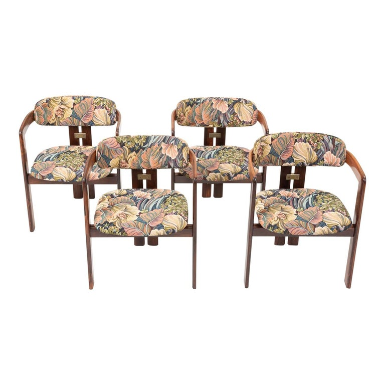 Set of Four Augusto Savini for Pozzi 'Pamplona' Chairs For Sale