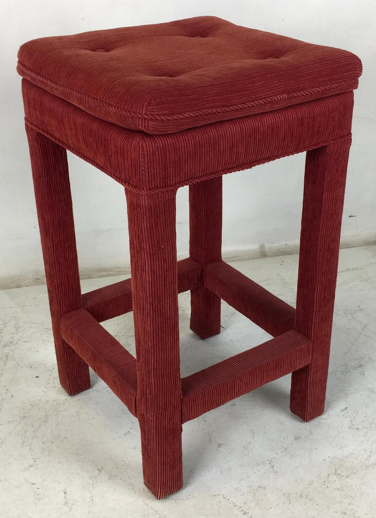 American Set of Four Parsons style Bar Stools For Sale