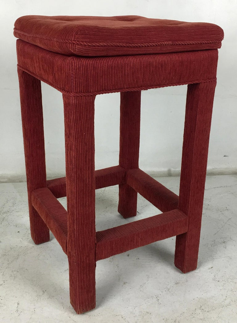 Late 20th Century Set of Four Parsons style Bar Stools For Sale