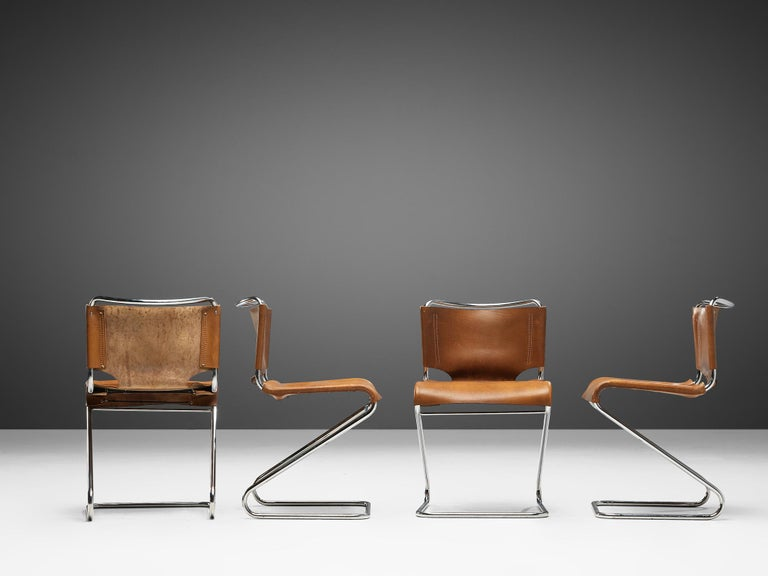 Mid-Century Modern Set of Four Pascal Mourgue 'Biscia' Chairs