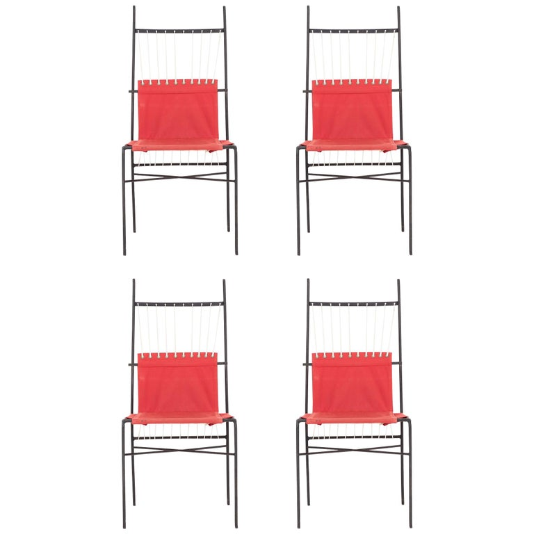 Set of Four Paul McCobb Dining Chairs For Sale